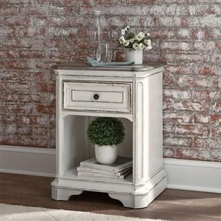 Liberty Magnolia Manor Antique White Single-drawer Nightstand