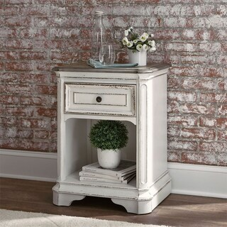 Magnolia Manor Antique White 1-Drawer Nightstand