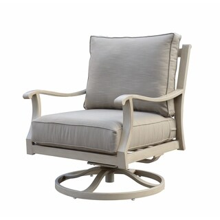 Maison Rouge Addison Aluminum Outdoor Swivel Club Chair
