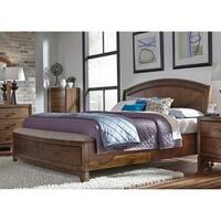 Avalon III Pebble Brown Panel Storage Bed