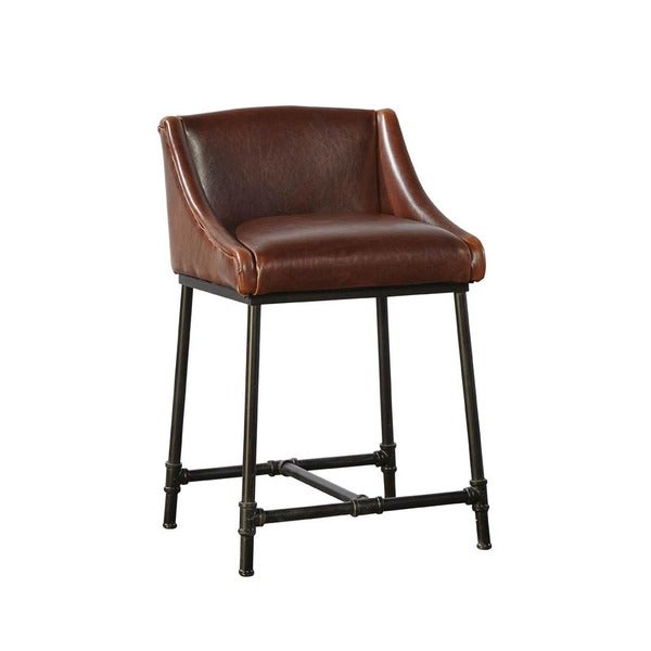 Shop Harvey Pipe Frame Counter Stool - Free Shipping Today ...