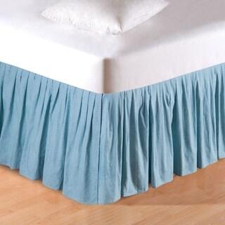 Aegean Grid 18-inch Drop Bed Skirt