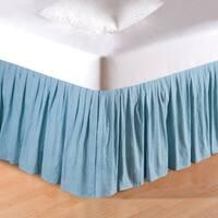 Aegean Grid Bed Skirt