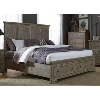 Highlands Gravel Finish Two Sided Storage Bed Set
