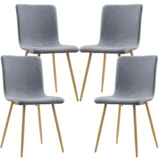 Poly and Bark Wadsworth Grey Fabric Dining Chairs (Set of 4)
