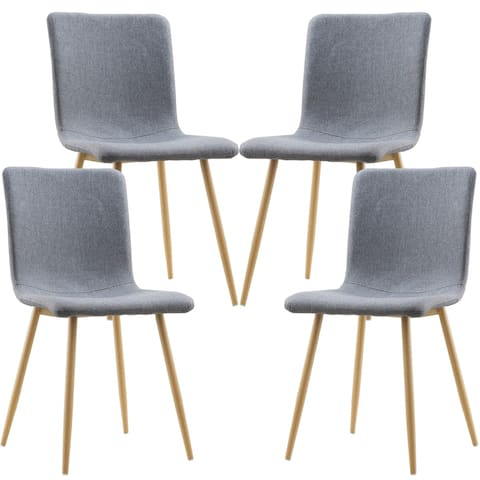 Edgemod Wadsworth Dining Chair with Natural Legs (Set of 4)