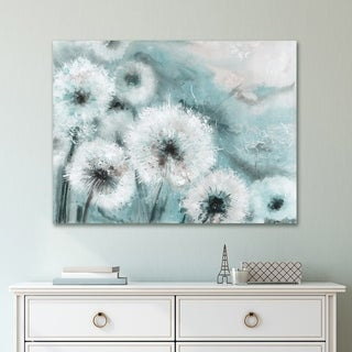 Portfolio Canvas Decor Watercolor Wishes Teal Canvas Wall Art