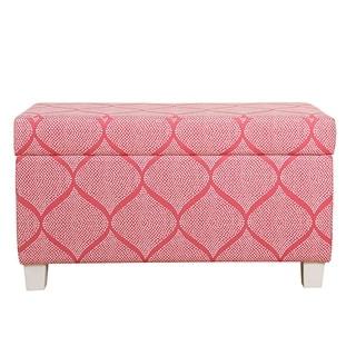 HomePop Kidsu0027 Storage Bench   Strawberry