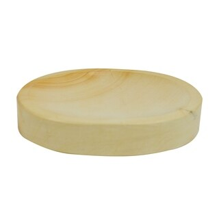 Polished Marble Soap Dish, Teak, Shower and Bathroom Accessory