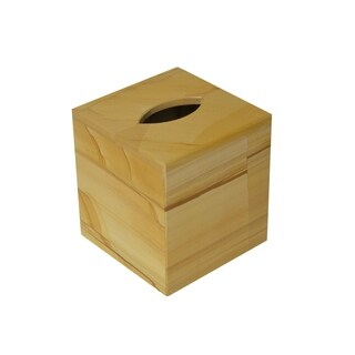Polished Marble Tissue Box Cover, Teak, Shower and Bathroom Accessory
