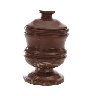 Polished Marble Jar, Chocolate, Shower and Bathroom Accessory
