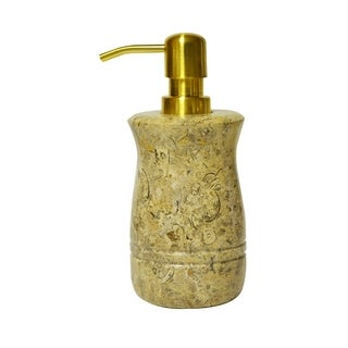 Polished Marble Soap/Lotion Dispenser, Fossil, Shower and Bathroom Accessory