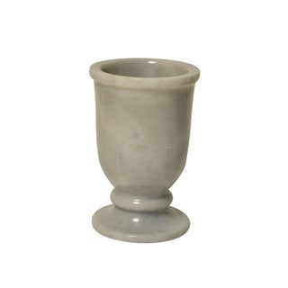 Polished Marble Tumbler, Cloud Gray, Shower and Bathroom Accessory