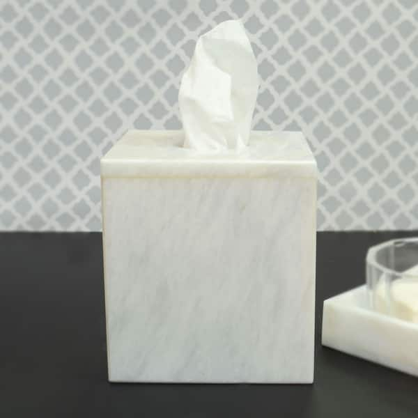 Polished Marble Tissue Box Cover
