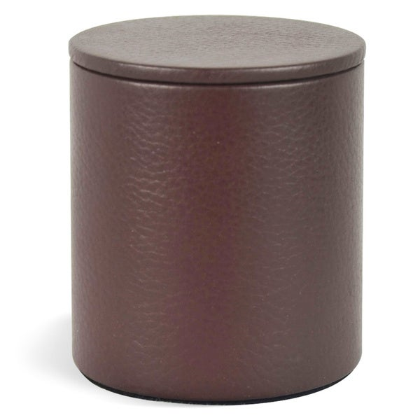 Shop Genuine Leather Round Jar With Lid / Storage Canister ...