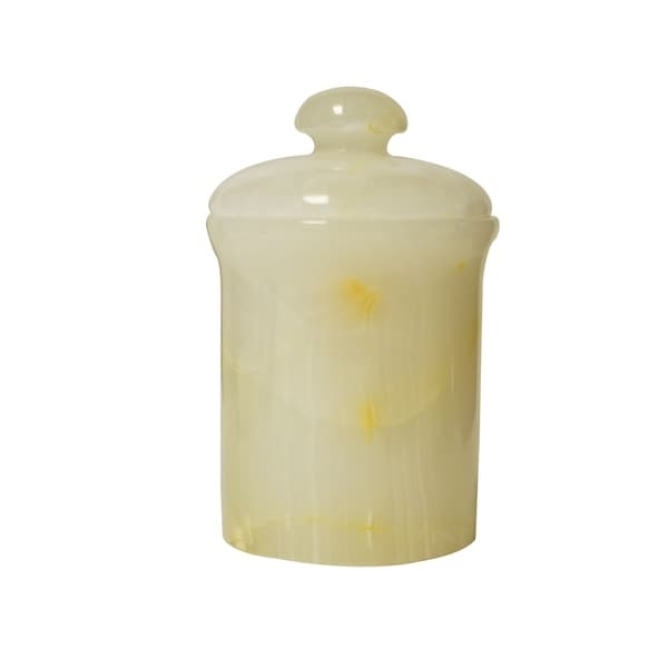 Polished Marble Jar, Pearl Onyx, Shower And Bathroom Accessory