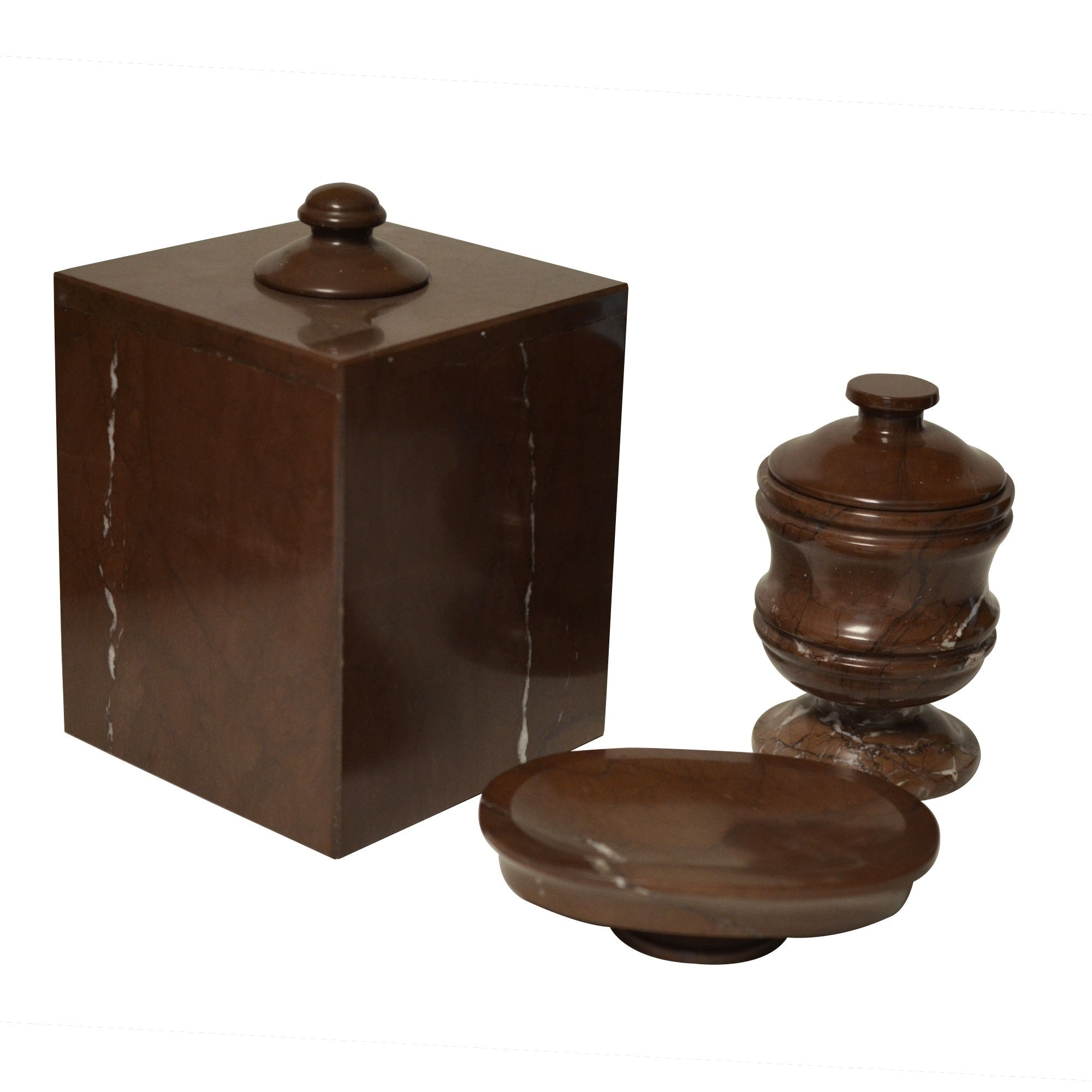 Chocolate Shower and Bathroom Accessory Polished Marble Tissue Box Cover