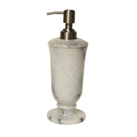 Polished Marble Soap/Lotion Dispenser, Cloud Gray, Shower and Bathroom Accessory