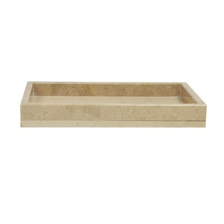 Polished Marble Tray, Light Pink, Shower and Bathroom Accessory