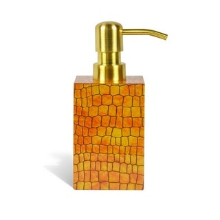 Genuine Leather Soap / Lotion Dispenser, Honey Comb, Shower and Bathroom Accessory