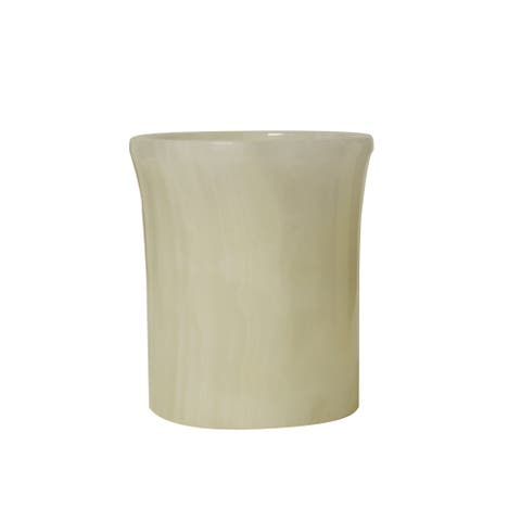 Polished Marble Tumbler, Pearl Onyx, Shower and Bathroom Accessory