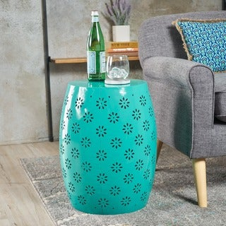 Zula Lace Cut Iron Accent Table by Christopher Knight Home