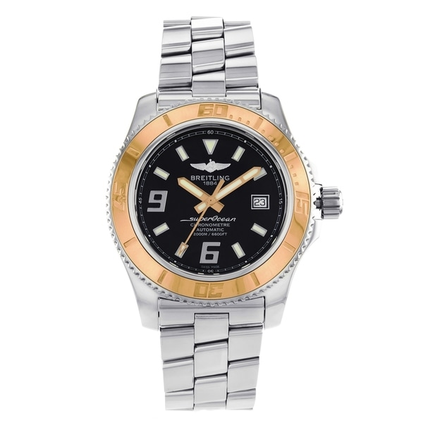 5c91d20da1a Shop Breitling SuperOcean 44 Steel   Rose Gold Automatic Men s - Free  Shipping Today - Overstock - 17310155