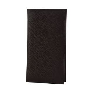 Genuine Leather Checkbook Holder with Pen and Card Holder and Money Slip, Brown|https://ak1.ostkcdn.com/images/products/17310192/P23557811.jpg?impolicy=medium
