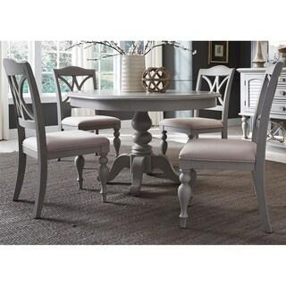 Summer House 42x54 Dove Gray Pedestal Dinette Table   Grey