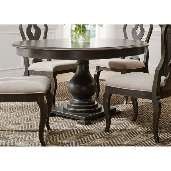 Ashley Furniture Chesapeake Va: Shop Chesapeake Wire Brushed Antique Black 48x60 Pedestal
