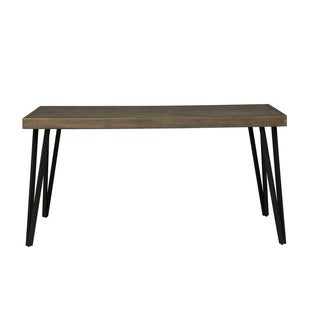 Horizons Rustic Caramel With Sawmark Distressing Dinette Table   Grey/Brown
