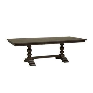 Liberty Whitney Black Cherry Finish 42-inch x 94-inch Trestle Table