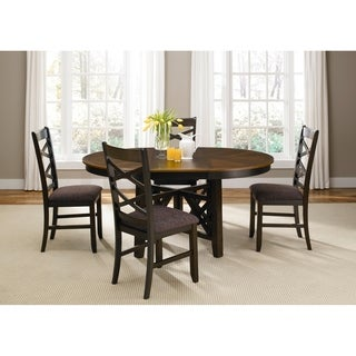 Bistro II Honey and Espresso Pedestal Dinette Table - Black/Brown