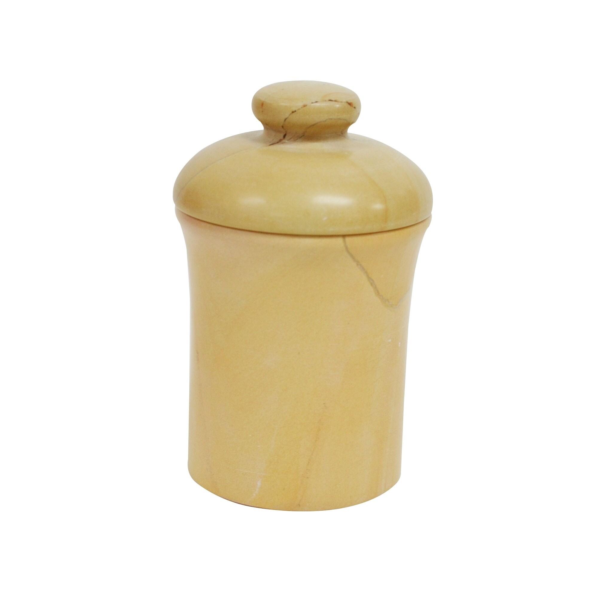 Rembrandt Home Polished Marble Jar, Teak, Shower and Bath...