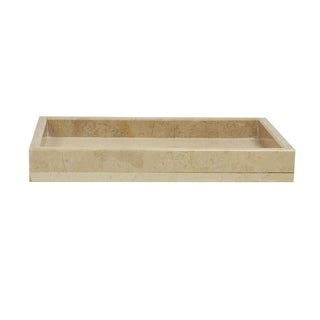 Polished Marble Tray, Beige, Shower and Bathroom Accessory