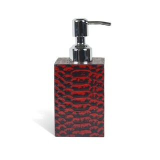 Genuine Leather Soap / Lotion Dispenser, Red Mamba, Shower and Bathroom Accessory
