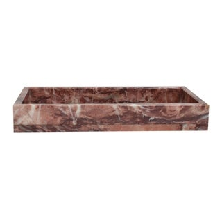 Polished Marble Tray, Galaxy Pink, Shower and Bathroom Accessory