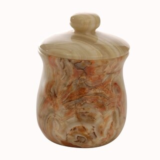 Polished Marble Jar, Pale Green, Shower and Bathroom Accessory
