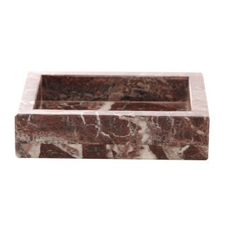 Polished Marble Soap Dish, Red Zebra, Shower and Bathroom Accessory