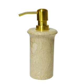 Polished Marble Soap/Lotion Dispenser, Golden Wheat, Shower and Bathroom Accessory