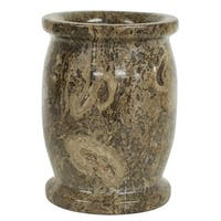Polished Marble Tumbler, Taupe Gray, Shower and Bathroom Accessory
