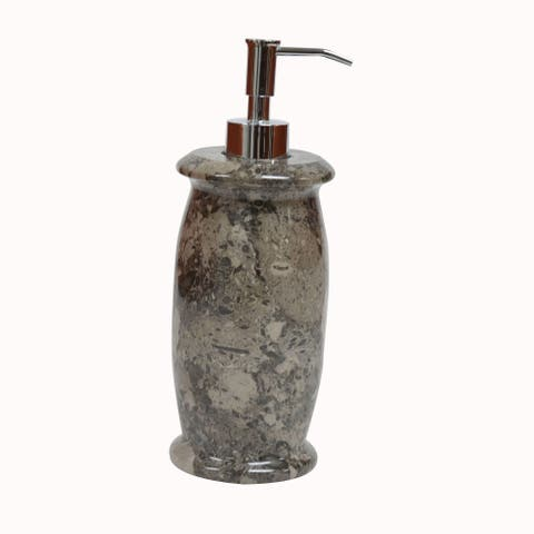 Polished Marble Soap/Lotion Dispenser, Taupe Gray, Shower and Bathroom Accessory