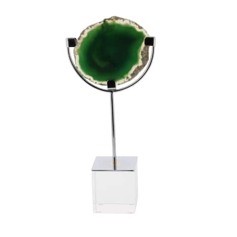 Carson Carrington Alavus Metal Glass Agate Sculpture