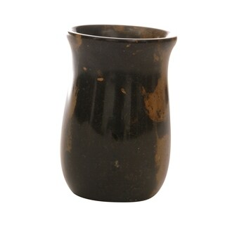 Polished Marble Tumbler, Black & Brown, Shower and Bathroom Accessory