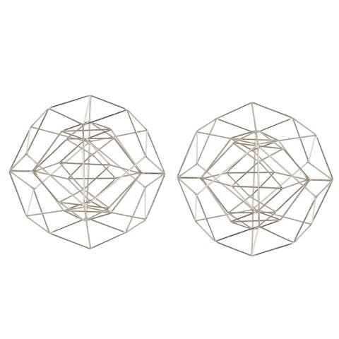 Carson Carrington Alavus Metal Wire Silver Sphere (Set of 2)