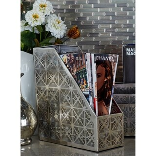 Studio 350 Metal Magazine Holder 4 inches wide, 11 inches high