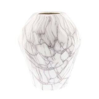 Studio 350 Ceramic Marble Vase 9 inches wide, 12 inches high