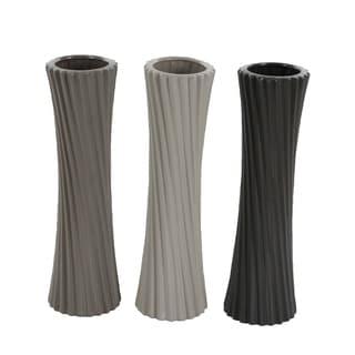 Studio 350 Ceramic Vase Set of 3, 5 inches wide, 23 inches high