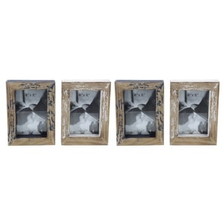 Studio 350 Wood Photo Frame Set of 4, 5 inches wide, 7 inches high