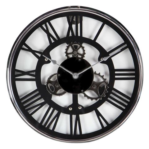 Carbon Loft Maunchly Stainless Steel 18-inch Wall Clock